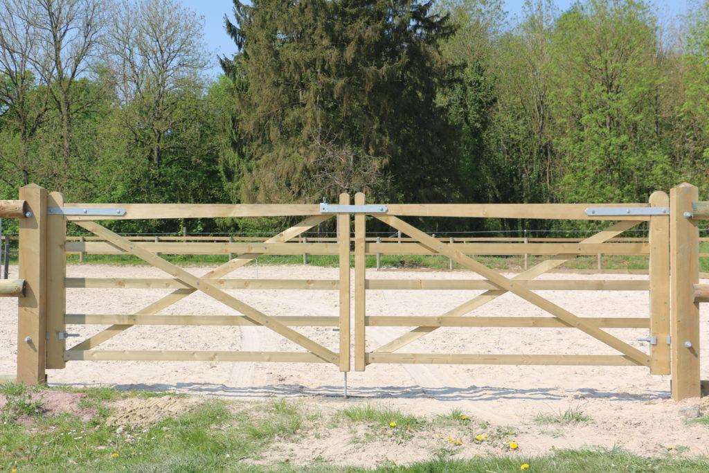 Barrière anglaise en bois autoclavé